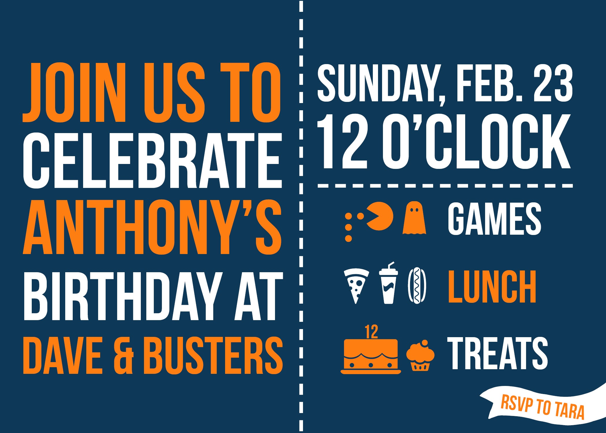 Small Moments Dave Busters Game Themed Party Invitation