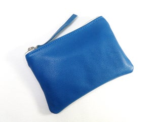 Image of Turquoise Leather Pouch