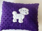 Image of Bichon frise purple pillow