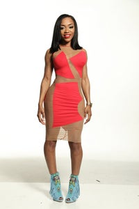 Image of Glass Stained dress (Red)