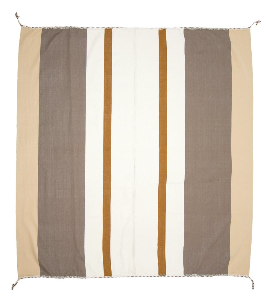 Image of IDA 90X90 BLANKET white | tan | steel (2013)