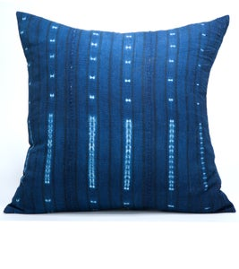 Image of KAMPALA PILLOW indigo resist 18X18