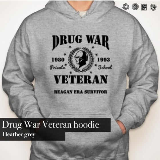 Image of Drug War Vet hoodie (GREY)
