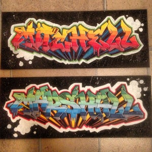 Image of Graffiti Name Board