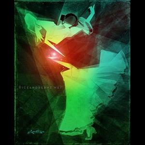 Image of  Day 10 of Flamenco February. Original & prints.