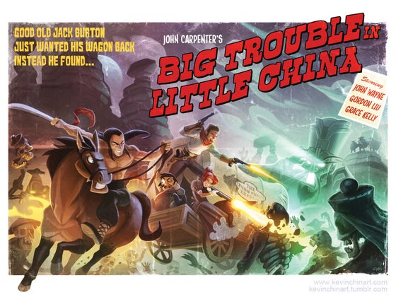 Image of Big Trouble Retro Print ***SALE***