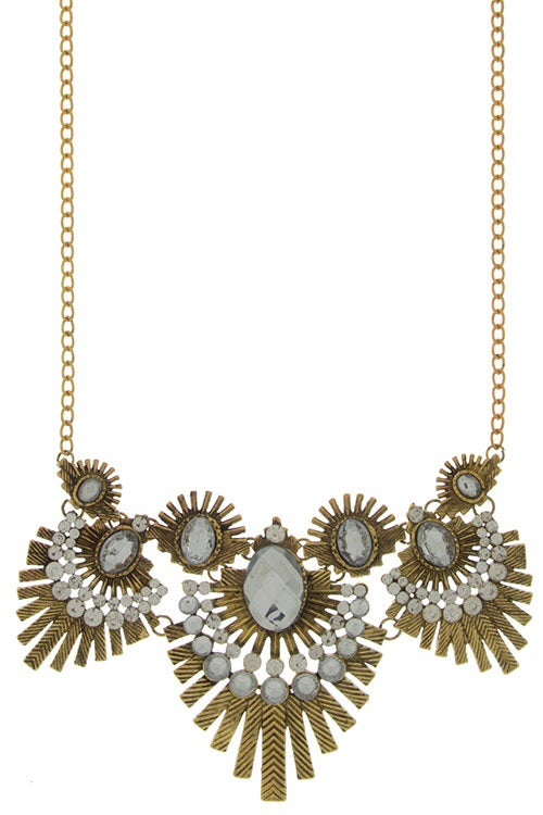 Image of Deco Fan Necklace