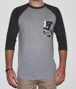 Image of Combat - 3/4 Sleeve Raglan Pocket Tee