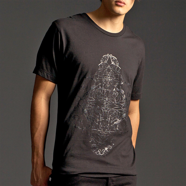 "Image of ""FOUR HORSEMEN"" CREW NECK T-SHIRT WITH GLOSS PRINT"