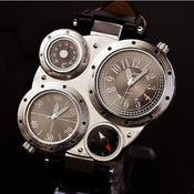 Image of Black Steampunk Mechanical Man Wrist Watch (WAT0101-White)
