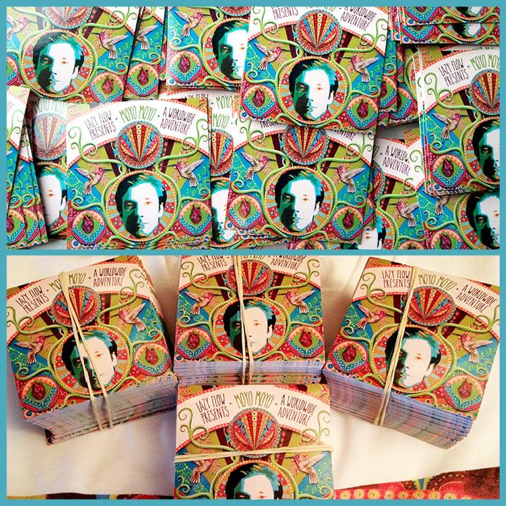 "Image of MOYO MOYO LP Stickers 2,8"" x2,8"" Pack"