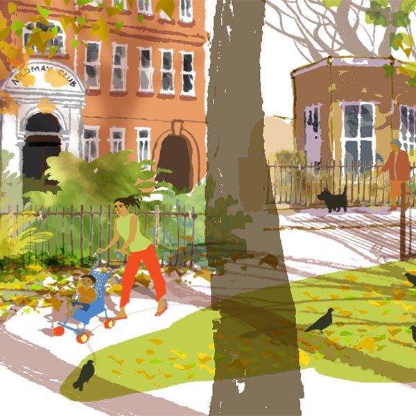 Image of Newington Green, autumn