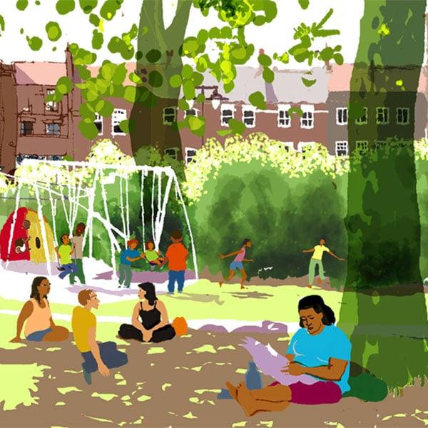 Image of Newington Green, Summer