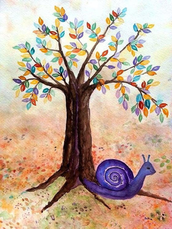 Image of Smiling Violet original Watercolor Painting