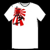 Image of Rising Sun Falling Bombs T-Shirt - White