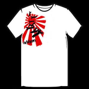 Image of Rising Sun Falling Bombs T-Shirt - White