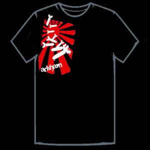 Image of Rising Sun Falling Bombs T-Shirt - Black