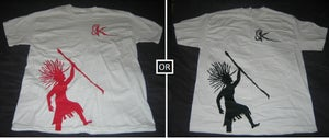 Image of Red/Black Rasta - White Shirt