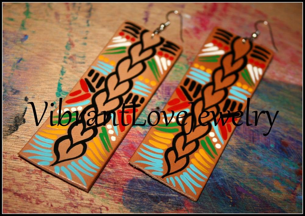 """Image of """"Row of LOVE"""" Earrings!"""