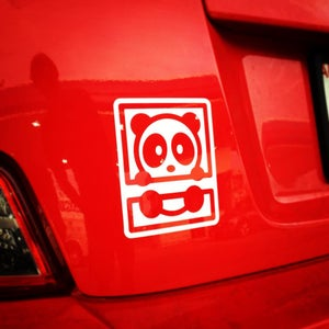 Image of White Bambu Vinyl Decal