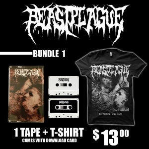 Image of BEASTPLAGUE - SELF TITLED TAPE & LIMITED SHIRT