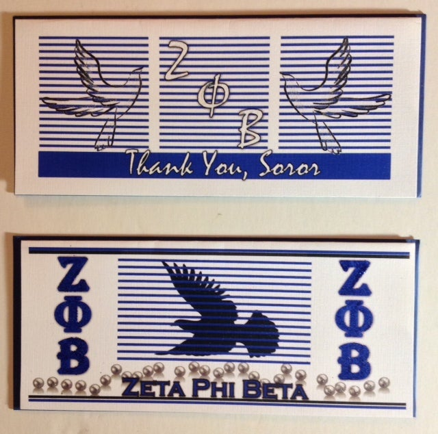 Image of Zeta Phi Beta Greeting Cards