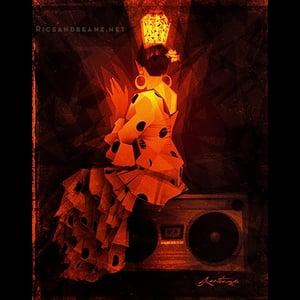 Image of  Day 15 of Flamenco February. Original & prints.