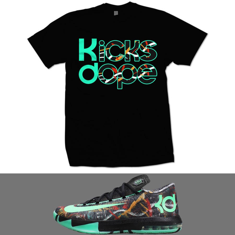 Image of ALL STAR KD 6 ILLUSION T SHIRT - BLK -