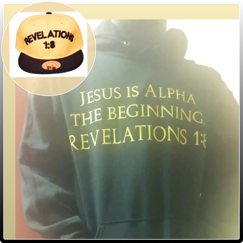Image of JESUS IS ALPHA HOODIE