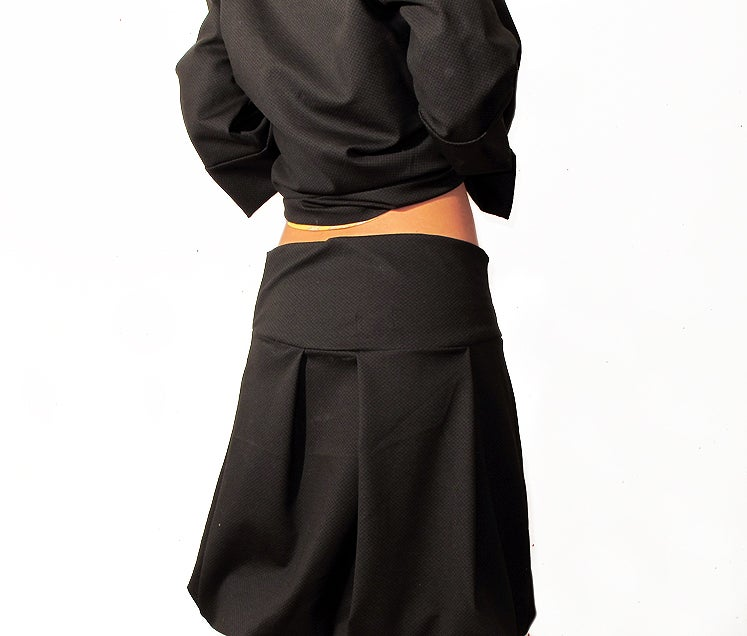 Image of Falda Pliegues Negra