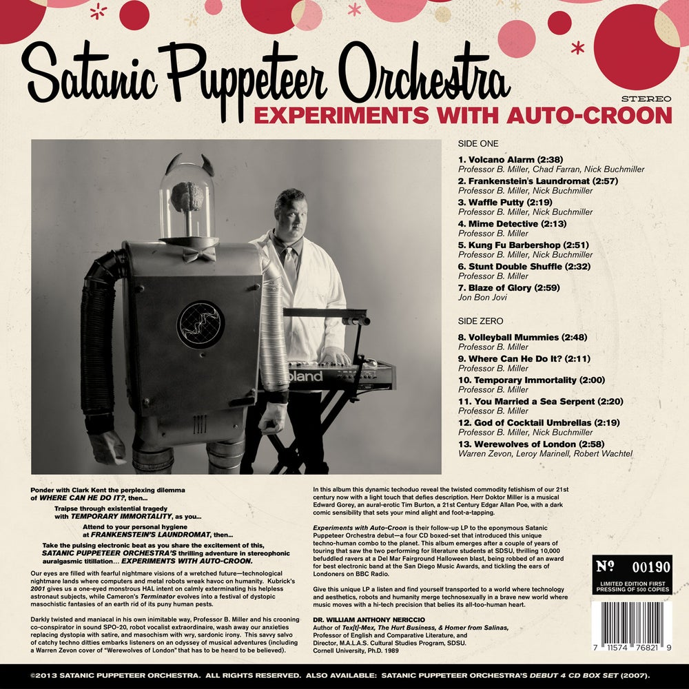 "Image of Experiments with Auto-Croon - Clear 12"" Vinyl+MP3"