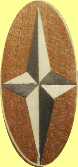 Image of Item No. 62 Marquetry Inlay Veneer Star +