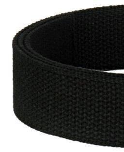 """Image of Cotton Canvas Webbing Strap - Adjustable - 1.5"""" Wide - Choose Color, Length & Nickel/Black #19 Hooks"""