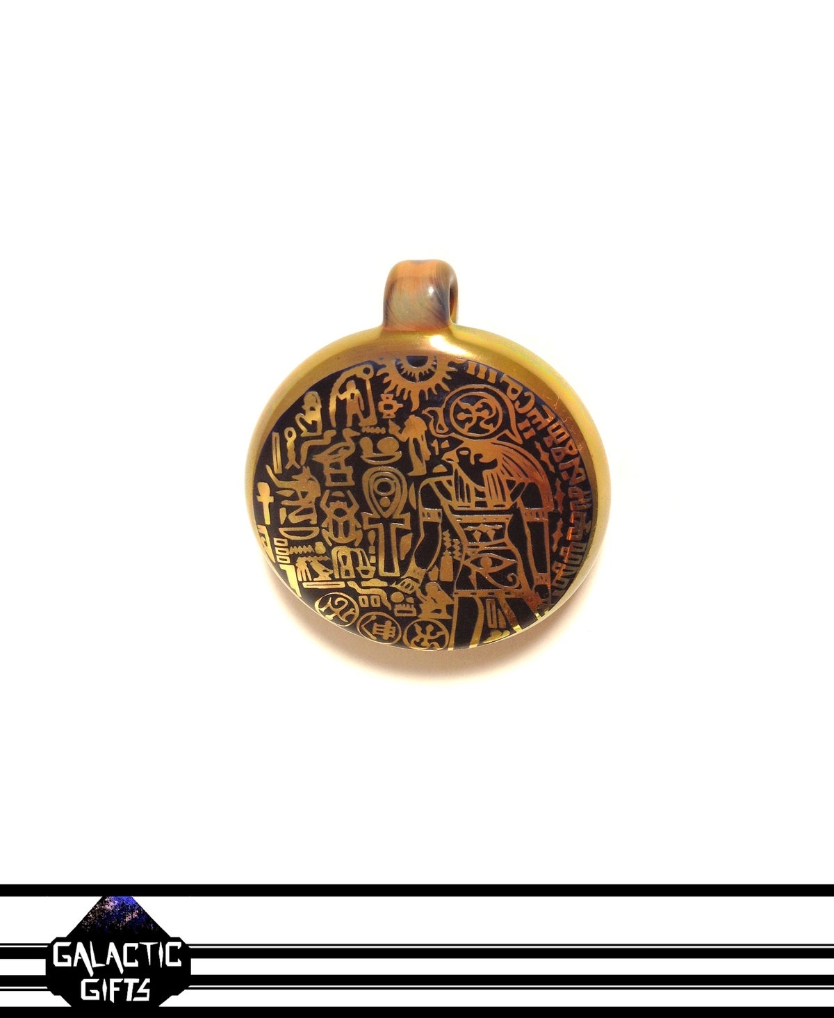 Image of Masataka Joei Egyptian God Horus Sacred Gold Medallion
