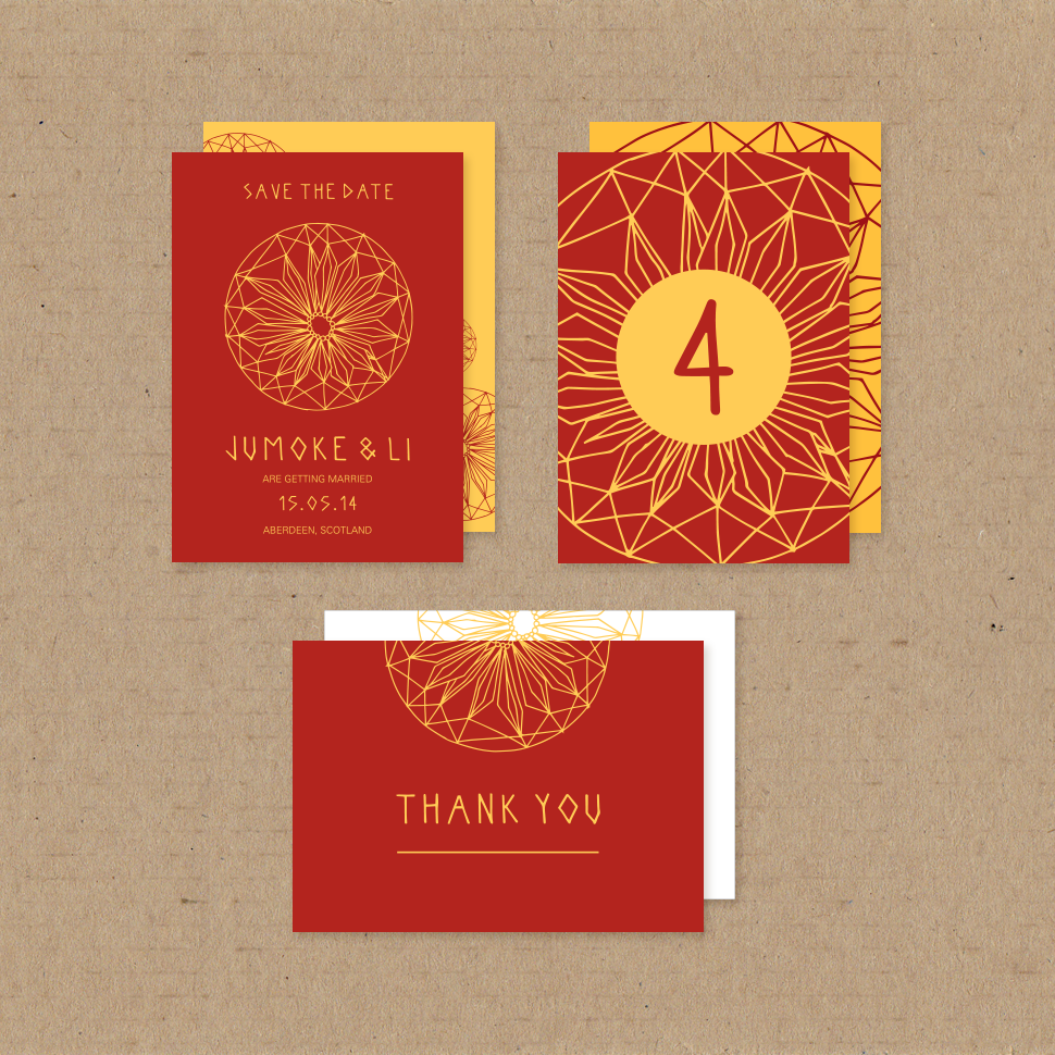 African Daisy Customisable Card Set / We Are Asilia