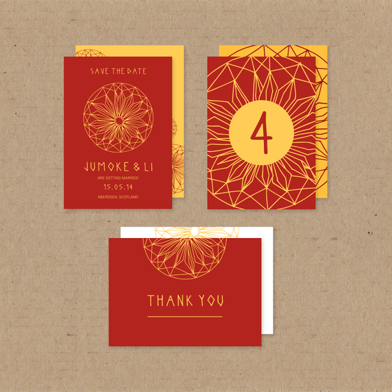 Image of African Daisy Customisable Card Set