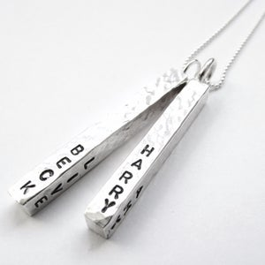 Image of Silver Bar Personalised Necklace