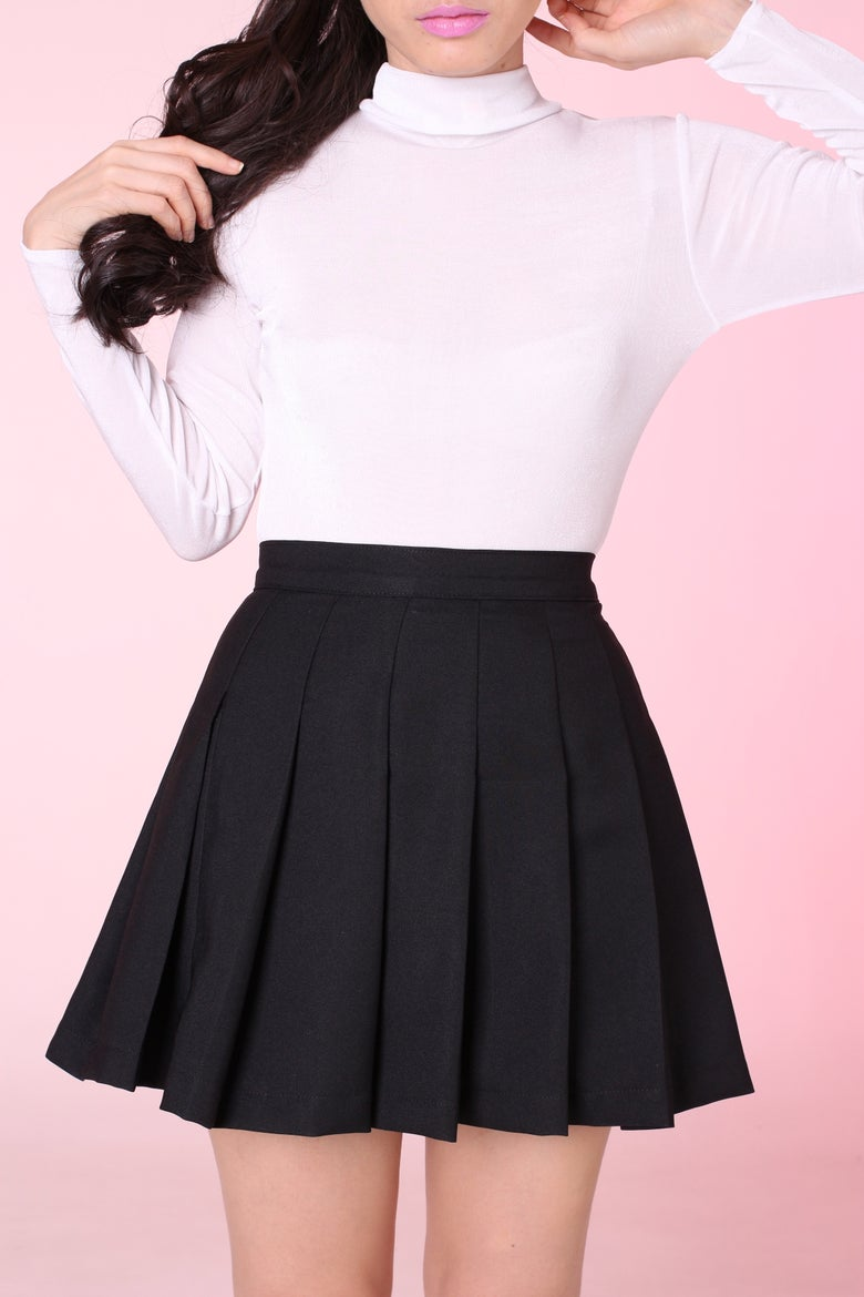 Image of MADE TO ORDER - Black Pleated Cheer Skirt