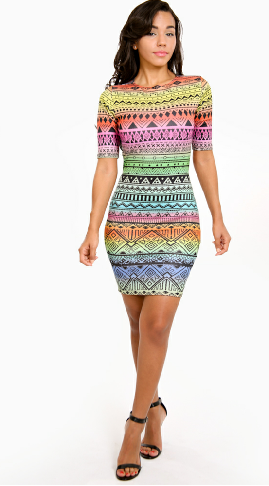 Image of Tribal Mini Dress