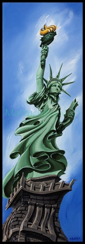 Image of Statue of Liberty Limited Edition Canvas Giclee
