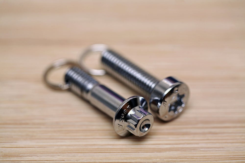 Image of WORK Wheels Keychain - Chrome