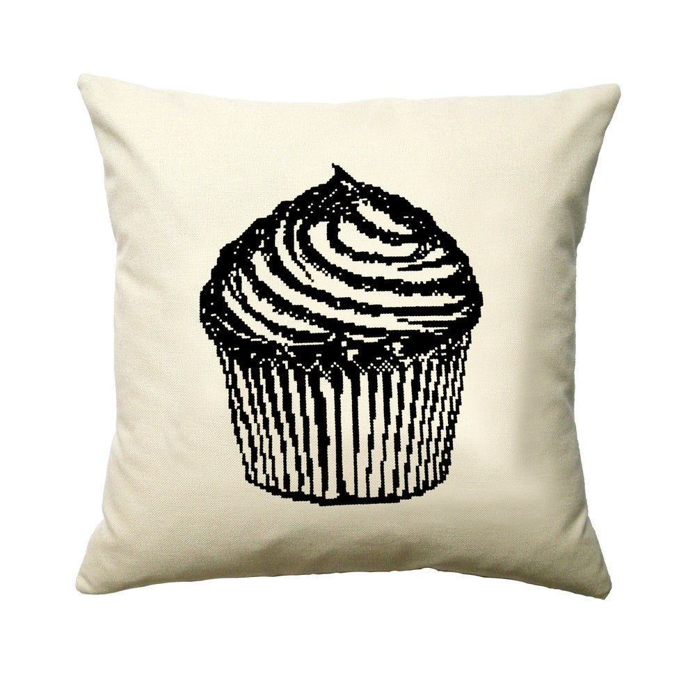 Image of The Cupcake Cushion PDF Pattern