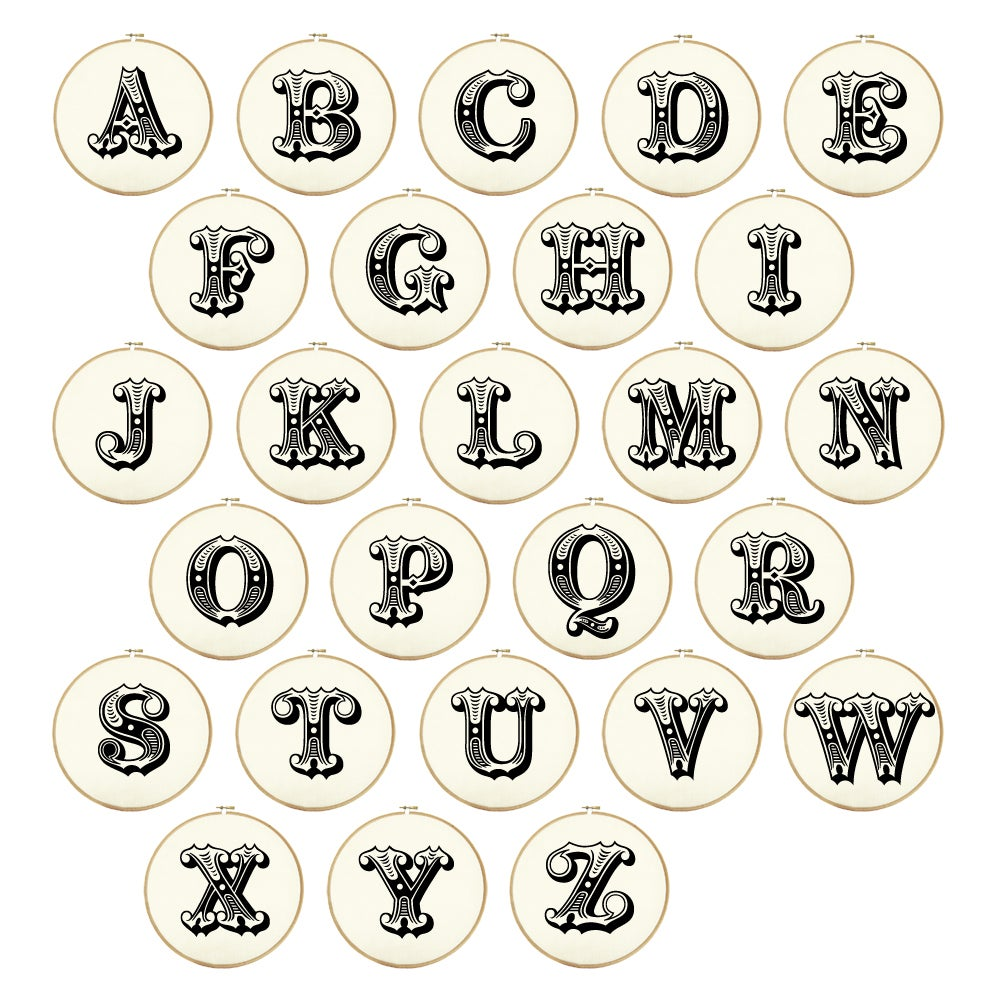 Image of Gigantic Circus Letter PDF Patterns