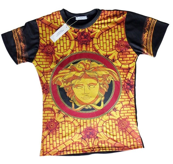 Image of Authentic Black/Red Versace Medusa T-Shirt