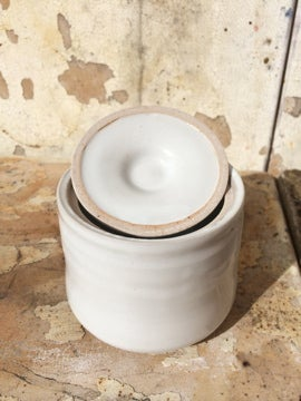 Image of little white jar