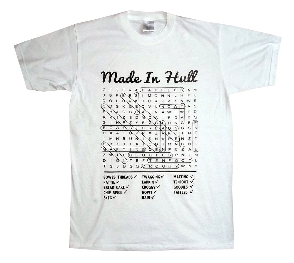 Image of Hull Loves Word Search White T-Shirt