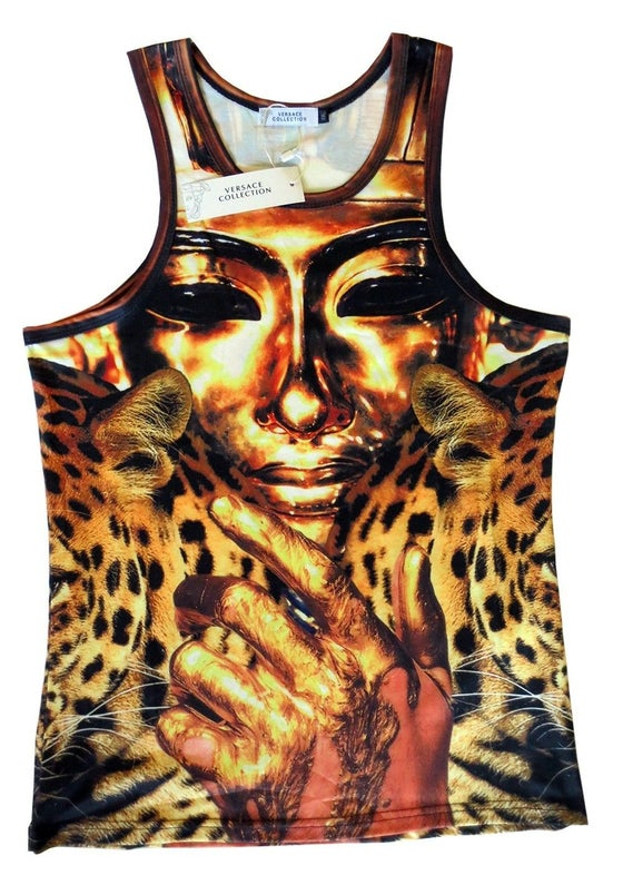 Image of Authentic Versace King Tut Tank Top T-Shirt