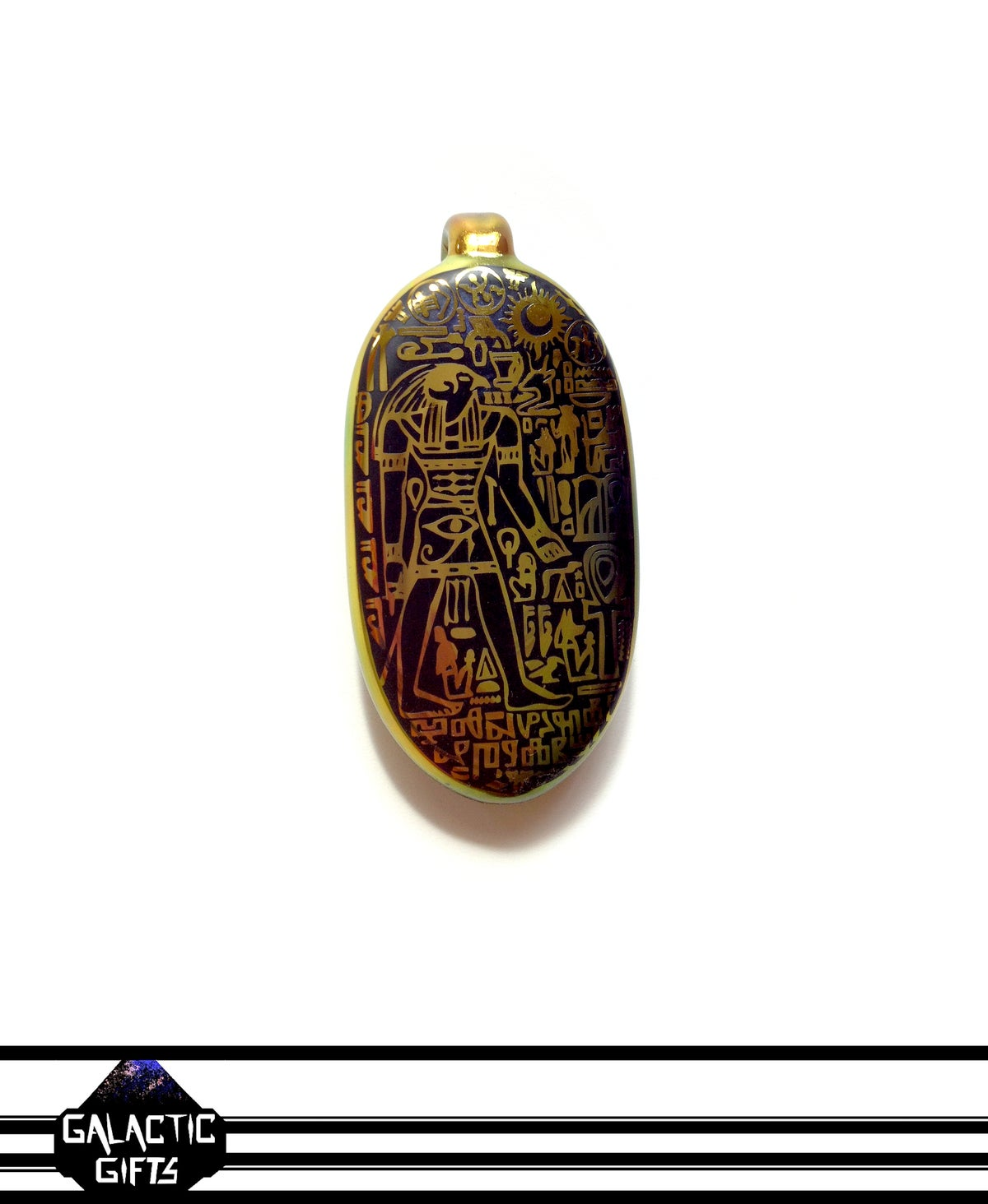 Image of Masataka Joei Egyptian God Horus Sacred Gold Ellipse Talisman