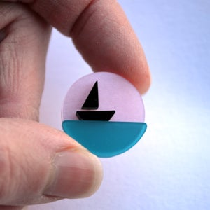 Image of Little Sailing Boat Brooch