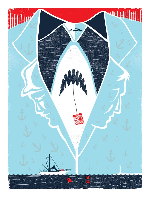 Image of Jaws Tribute Poster